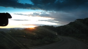 Sunset over Kebler Pass