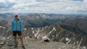 La Plata Peak 14,433 in July was nice and warm  :-D
