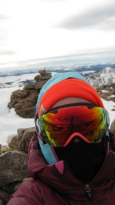 Terrible selfie with gaper gap from my wind shelter spot
