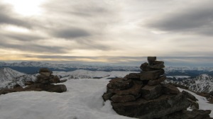 Cool photo of cairns at the top