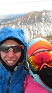 Stixs and I before hauling back down the mountain.