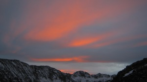 Amazing alpenglow!