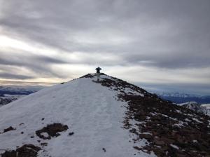 A few feet from the peak!