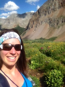 Wildflowers, mountains, and yours truly!