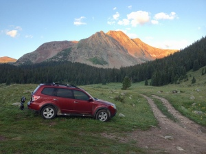My sweet campsite by a creek at 10,800ft and nobody around but marmots.