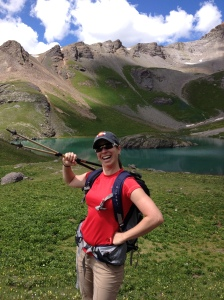 Cheesin' it up by the most amazing lake I've ever seen.